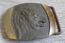 Grizzly Bear SL Knight Bronze Vintage Belt Buckle