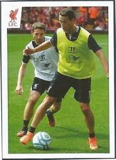 PANINI LIVERPOOL STICKER-2014/15- #071-JAVIER MANQUILLO ON THE BALL IN TRAINING