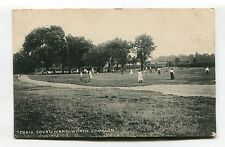 Wandsworth Common - Tennis Court, girls playing - early London postcard