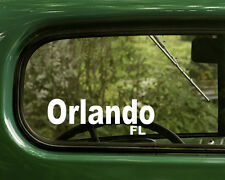 Orlando Florida Decal Sticker (2) for Car, Truck, Laptops