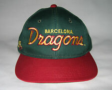 Vintage Barcelona Dragons Sports Specialties Script Twill Snapback Hat Cap