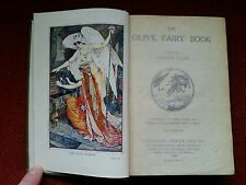 THE OLIVE FAIRY BOOK ANDREW LANG 1920 COLOUR PLATES by HENRY FORD