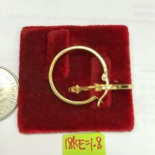 18k saudi gold 1.8g gold loop earrings!#