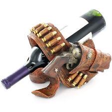 Cowboy Pistol Belt Cartridge Bullets Ammo Wine Bottle Holder Western Decor New
