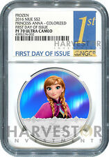 2016 SILVER DISNEY FROZEN SERIES - ANNA - NGC PF70 FIRST DAY OF ISSUE - W/OGP
