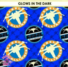 141149374- Star Wars Rebel Alliance X-Wing Blue Glow in the Dark Fabric Yard