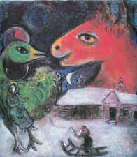 Marc Chagall - Der Winter + Passepartout