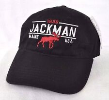 *JACKMAN MAINE* Bull Moose Ball cap hat embroidered *OURAY SPORTSWEAR*