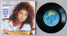 "GLORIA ESTEFAN - CAN'T STAY AWAY FROM YOU - POSTER PACK 7"" 45 RECORD 1987"