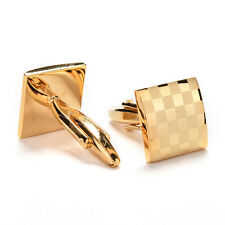 Stainless Steel Gold Vintage Jewelry Wedding Gift Men's Cuff Links Cufflinks GR