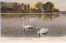 Swans On A Summer Day, Ferry Hotel, WINDERMERE, Westmorland