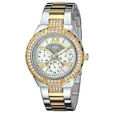 Guess U0111L5 Women's Silver Dial Two Tone Crystal Watch