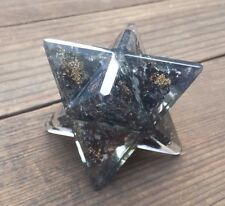 EXTRA LARGE (80-85mm) BLACK TOURMALINE ORGONE GEMSTONE MERKABA ORGONITE