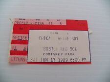 Chicago White Sox & Boston red Sox Comiskey Park Jun 17 1989 Ticket Stub
