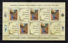 """2009 RSM """"LINGUA ITALIANA"""" FOGLIETTO NUOVO LUSSO**"""