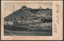 Molise. CAMPOBASSO vecchio a ridosso del monte. Cartolina viaggiata nel 1905.
