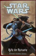 Star Wars: Rite Of Passage - Trade Paperback - Dark Horse - Rare 2nd Edition