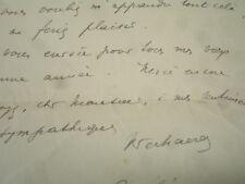 """LAS Marthe Verhaeren ( épouse de Emile Verhaeren ) 1924 """" Soirée Verheren"""