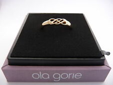 New Ola Gorie 9ct Yellow Gold Celtic Knot Wedding Ring Boxed