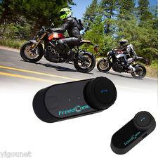 2x Auriculares 800M Bluetooth Dual Intercomunicador De Casco Moto Motociclistas