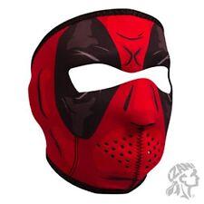 Red Black Dawn Phantom Neoprene Full Face Mask ATV Biker Paintball Horror Skull