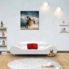 "HUGE ""Steed"" MODERN ABSTRACT OIL PAINTING CANVAS WALL ART HOME DECOR (No frame)"