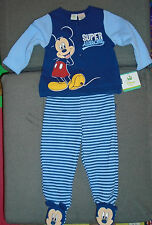 @** DISNEY BABY 2 PC MICKEY MOUSE SWEATSHIRT & FOOTED PANTS**SIZE 6-9M@**