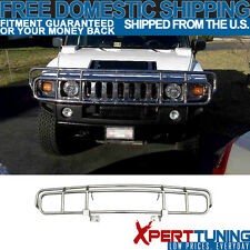03-09 HuMMer H2 4D SUV SUT Brush Chrome Grille Guard Double Bars Stainless Steel