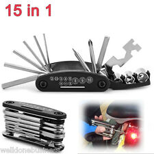 15 in 1 Multi Bicycle Repair Tools Set MTB Screwdriver Hex Spoke Wrench Tool