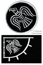 LOT of 2 ODIN RAVEN BANNER FLAG PATCH iron-on VIKING EMBLEM embroidered BLACK
