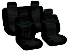 All Black Seat Covers Superior PU Synthetic Leather Steering Wheel 13pc CS4