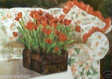 Chintz And Tulips by Helen Paul - Floral Art