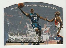1999/00 FLEER ULTRA BOBBY JACKSON PLATINUM MEDALLION EDITION 16/50 CARD #47P
