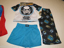 Boy's toddler youth Star Wars 3 piece sleepwear set PJ 2T pants shorts shirt