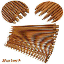 36Pcs 18 Sizes 1 Set Carbonized Bamboo Single Pointed Crochet Knitting Needles