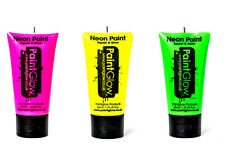 PaintGlow Neon UV Face & Body Paint Rave Festival Party 50ml Set of 3