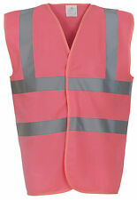HI VIS PERSONALISED SAFETY VEST WAISTCOAT WORKWEAR - HI VIZ - COLOURED