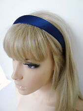 Gorgeous Navy Blue 2.5 cms Wide Satin Alice Band Headband Hair Band
