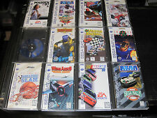 Complete Sega Saturn Lot- Wing Arms Virtua Racing Rally Championship Iron Man+++