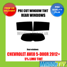 CHEVROLET AVEO 5-DOOR 2012+ 5% LIMO REAR PRE CUT WINDOW TINT