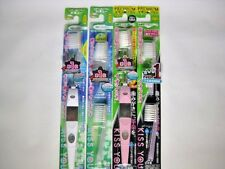 KISS YOU  regular size medium 2 ionic toothbrush + 4 replacement pink and white
