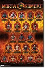 XBOX PS3 MORTAL KOMBAT CHARACTER GRID 22x34 NEW VIDEO GAME POSTER FREE SHIPPING