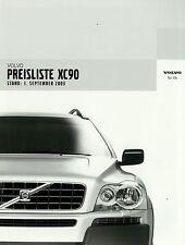 Preisliste Volvo XC90 1.9.03 2003 Autopreisliste Preise Auto PKWs price list