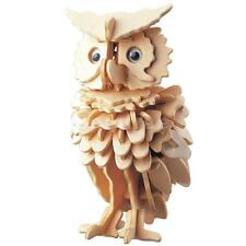 Owl Bird Shapes DIY 3D Jigsaw Wooden Model Construction Kit Toy Puzzle Gift