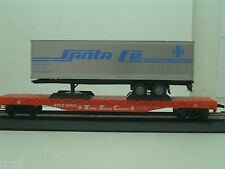 HO MODEL POWER  A.T.S.F. FLAT CAR WITH  SANTA FE  SEMI   #6910