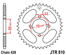 Rear Steel Drive Sprocket to fit Hyosung 125 Cruise II '97-98 (45T)