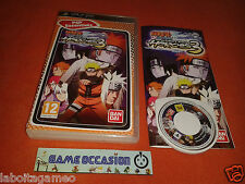 NARUTO SHIPPUDEN ULTIMATE NINJA HEROES 3 PSP SONY PLAYSTATION COMPLET PAL