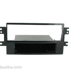 CT24KI11 FOR KIA CERATO 2005 to 2008 BLACK SINGLE DIN FASCIA WITH FIXED POCKET