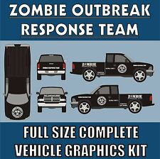 ZOMBIE OUTBREAK RESPONSE TEAM FULL VEHICLE DECAL KIT-13 FULL SIZE HUGE STICKERS