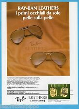 AIRONE983-PUBBLICITA'/ADVERTISING-1983- RAY-BAN  LEATHERS